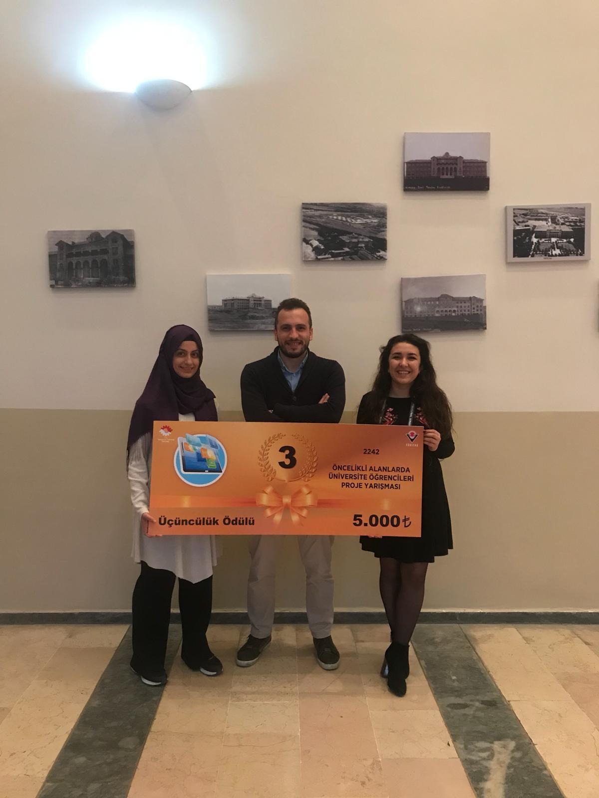 TUBİTAK 2242 Öncelikli Alanlar Türkiye Finallerinde Başarımız