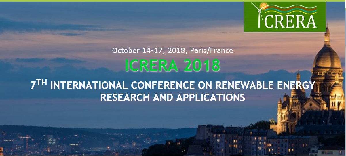 International Conference on Renewable Energy Research and Applications, ICRERA 2018